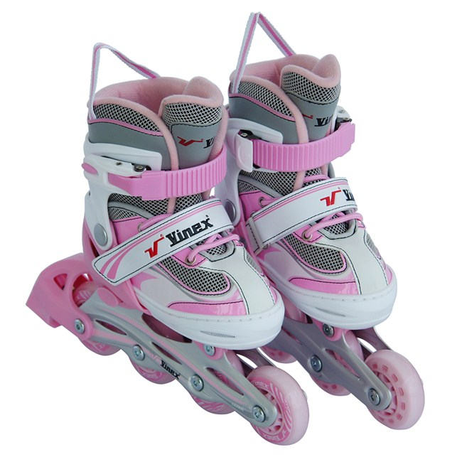 Vinex Inline Skates - Stylus (Adjustable, Pink / White)
