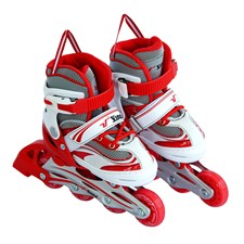 Vinex Inline Skates - Stylus (Adjustable, Red / White)