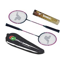 Vinex Badminton Racquet Set - Super Gold