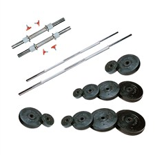 42 Kg Weight Rubber + 2 Pc Dumbbell Rods + 2 Pc Weight Training Rods
