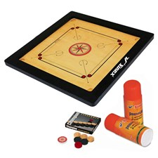 Vinex Carrom Board Set - Club (Full Size, 3 Inch Border)