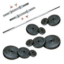 22 Kg Weight Rubber + 2 Pc Dumbbell Rods + 1 Pc Weight Training Rod