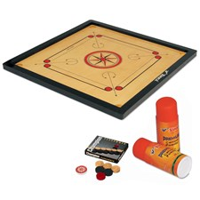 Vinex Carrom Board Set - Super (Full Size, 1.5 Inch Border)