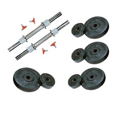 12 Kg Weight Rubber + 2 Pc Dumbbell Rods