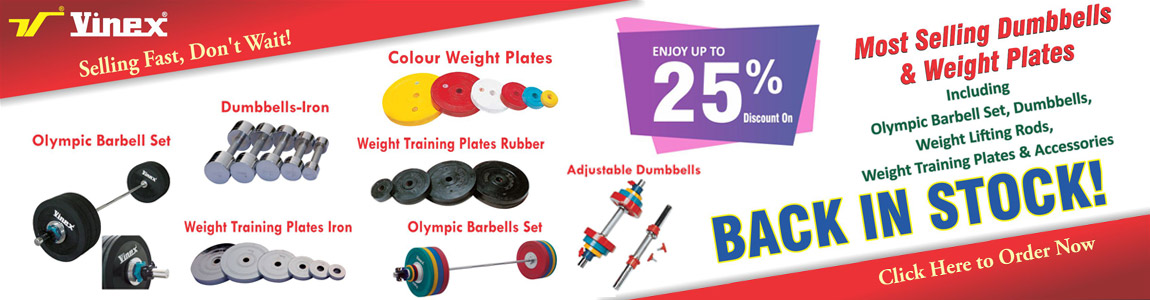 Dumbbells & Weight Plates Back in Stock